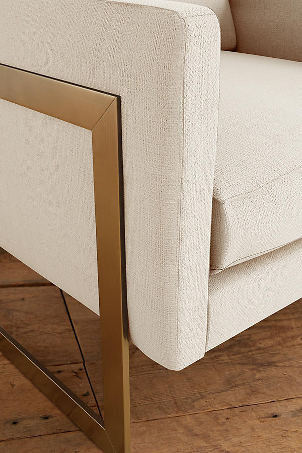 Slide View: 3: Basketweave Linen Meredith Chair