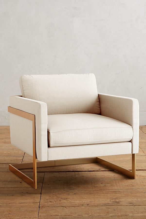 Slide View: 1: Basketweave Linen Meredith Chair