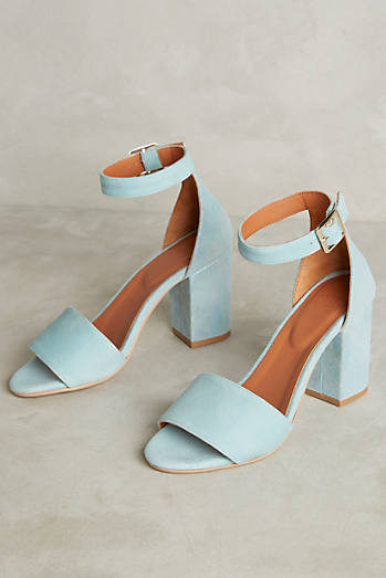 Jasper & Jeera Iridescent Heeled Sandals