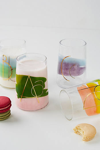 Painted Monogram Juice Glass