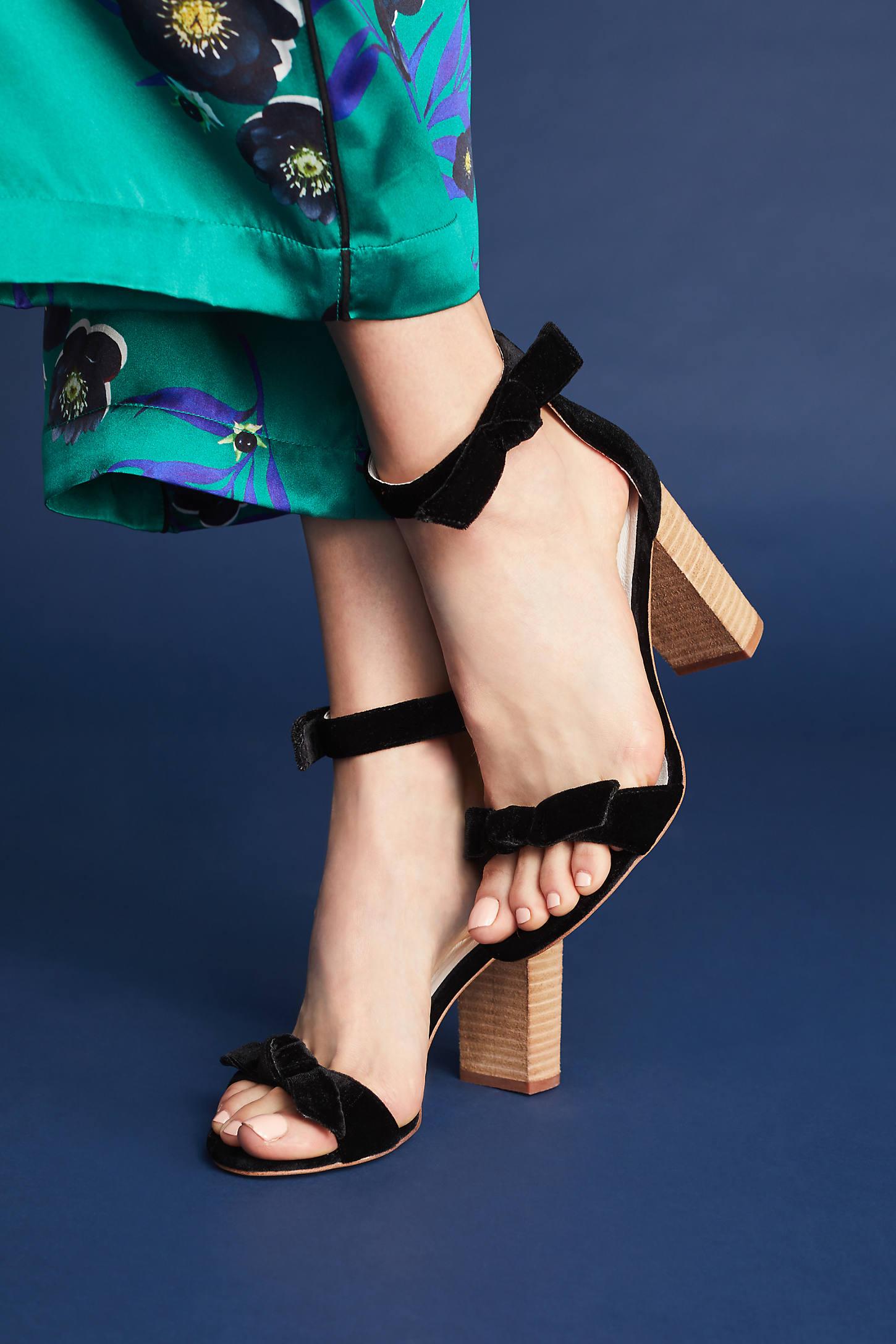 Jeffrey Campbell Velvet Heeled Sandals