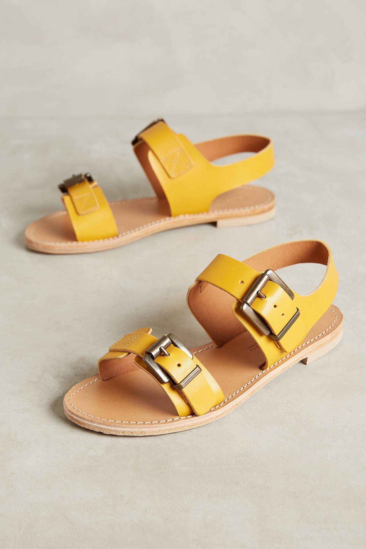 Morena Gabbrielli Yellow Leather Sandals