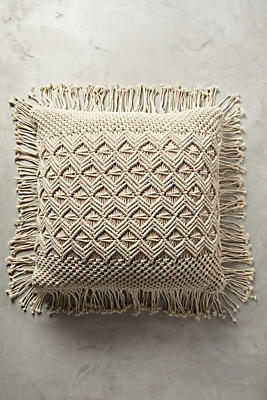 Slide View: 1: Fringed Diendra Floor Pillow