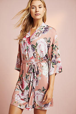 Slide View: 1: Flora Nikrooz Floral Knit Robe