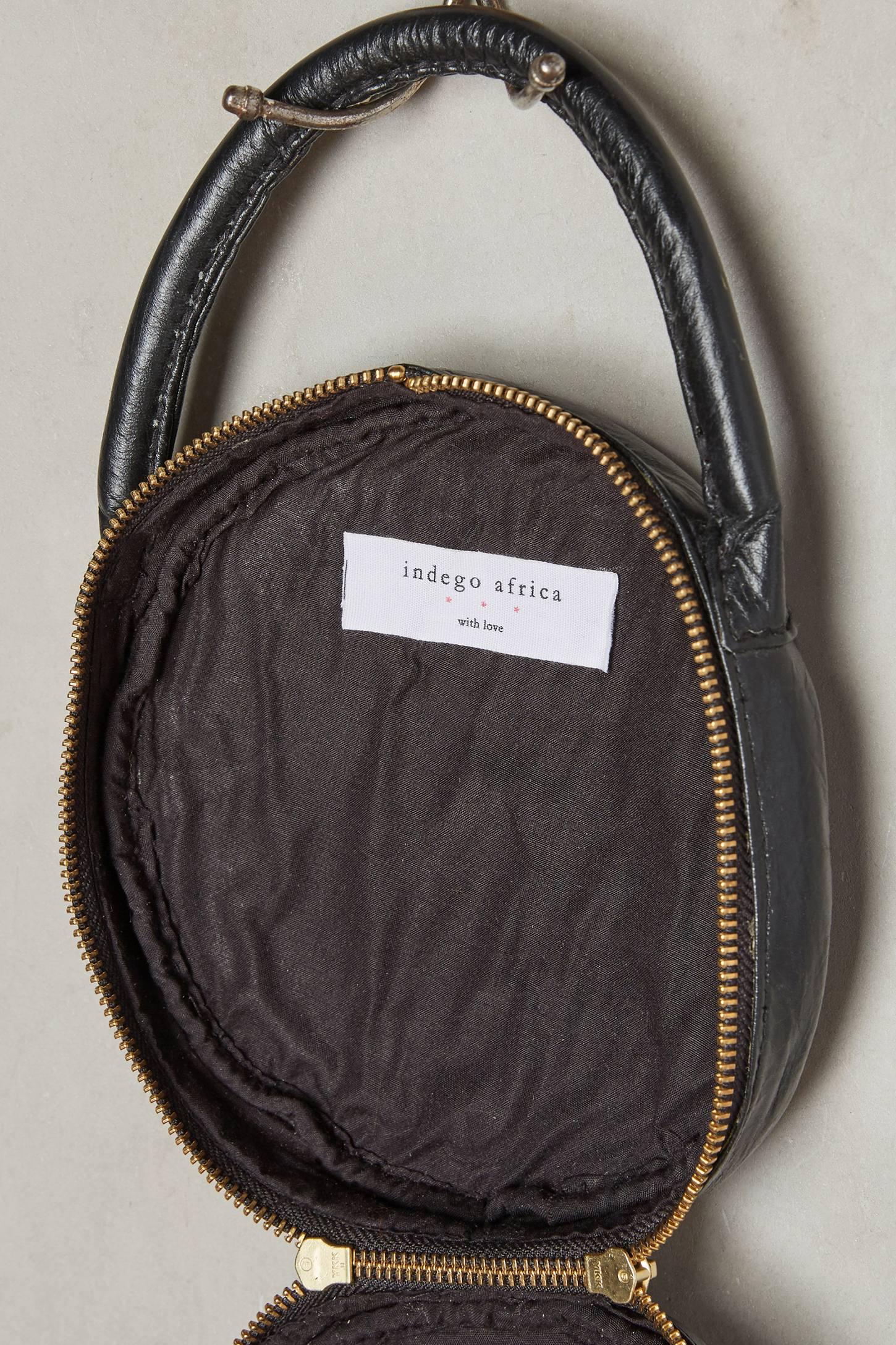 Slide View: 3: Embroidered Circle Bag