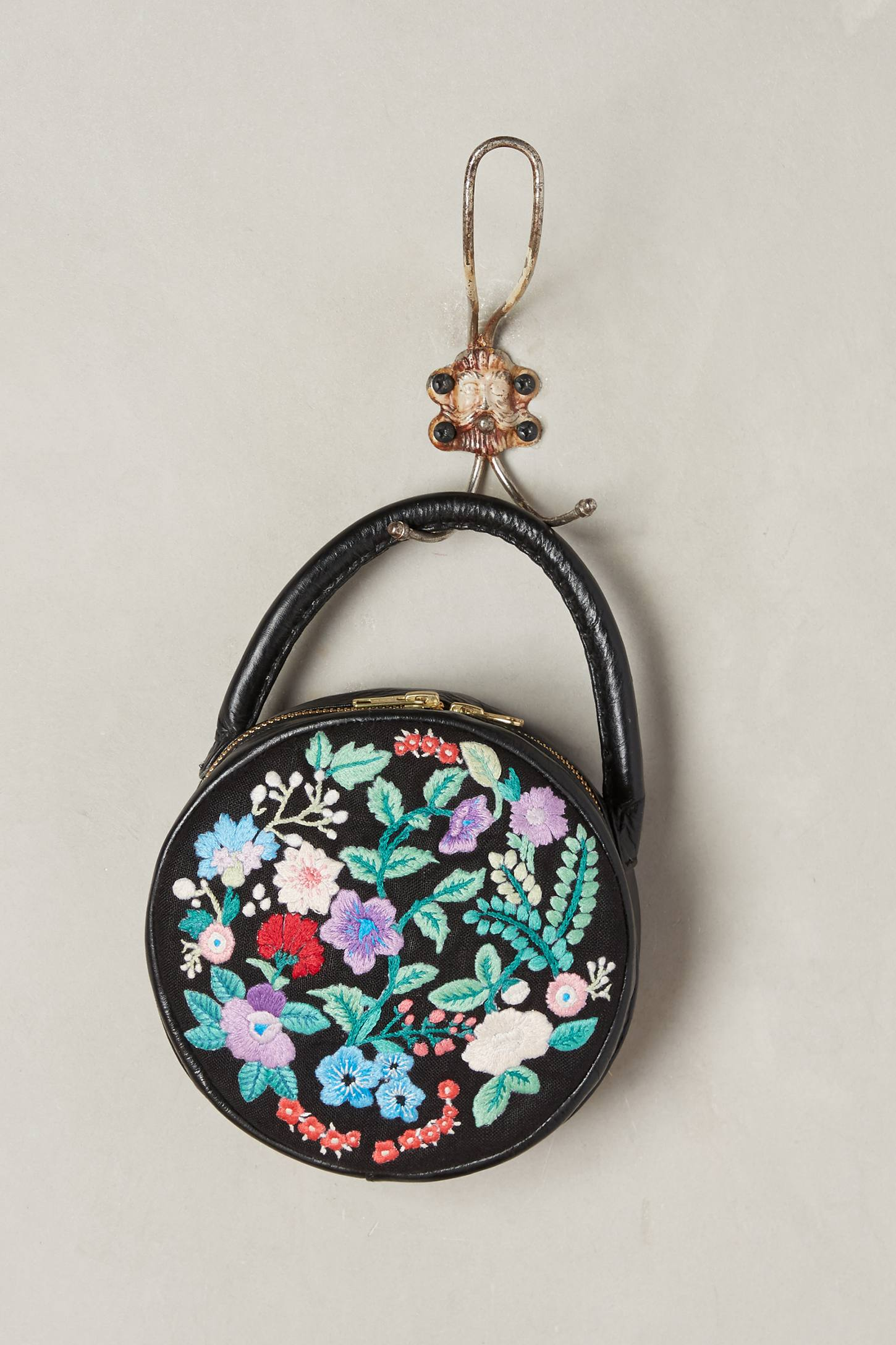 Slide View: 1: Embroidered Circle Bag
