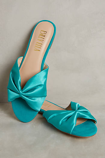 Billy Ella Satin Slide Sandals