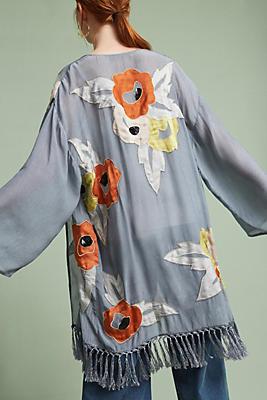 Slide View: 1: Primavera Fringe Kimono