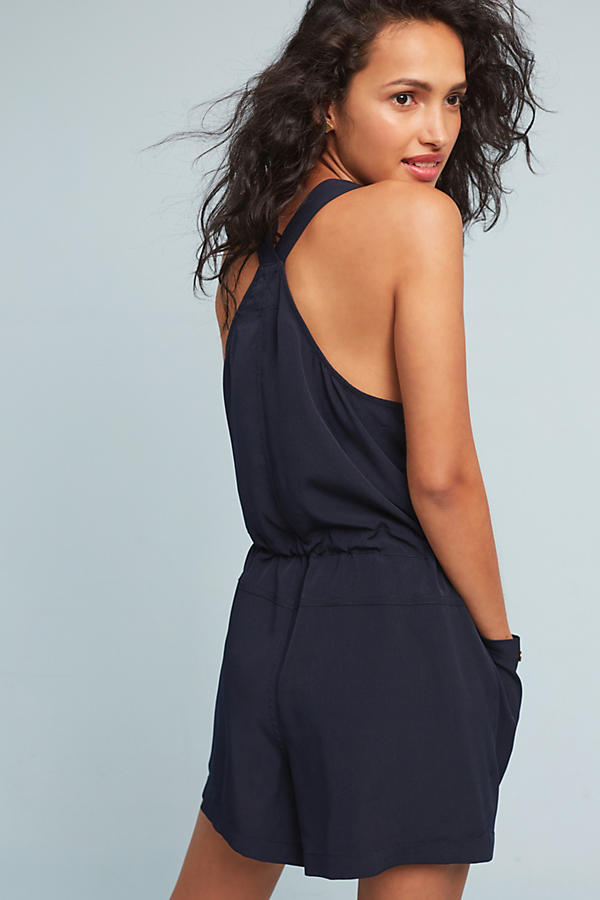Slide View: 3: Dree Utility Playsuit, Navy