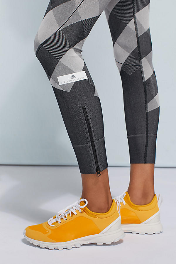 Slide View: 3: Adidas by Stella McCartney Checked Leggings