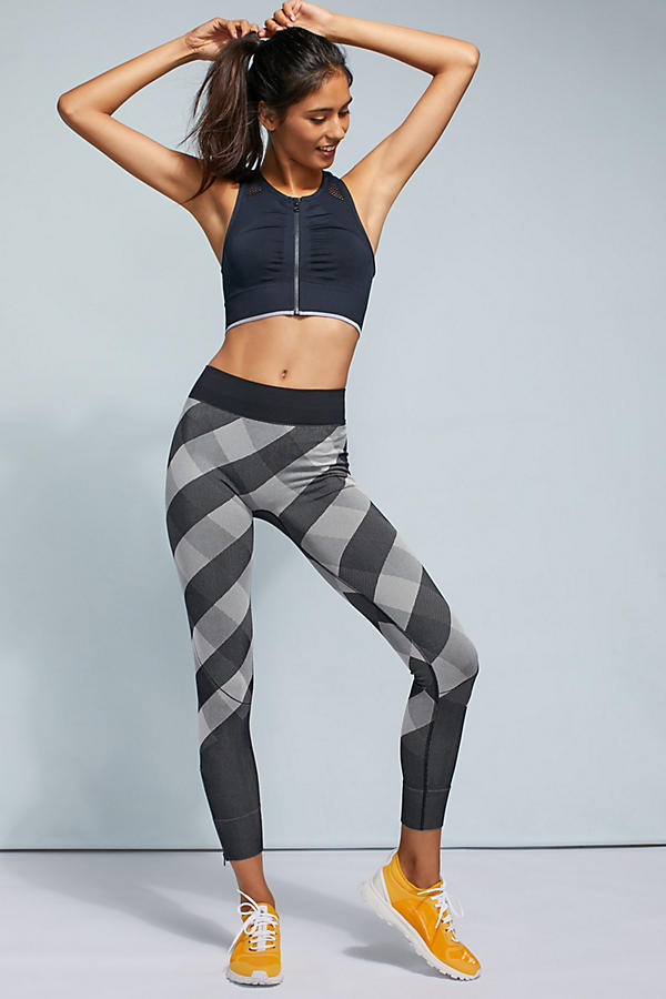 Slide View: 1: Adidas by Stella McCartney Checked Leggings