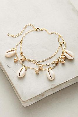 Layered Seashell Ankle Bracelet Anthropologie