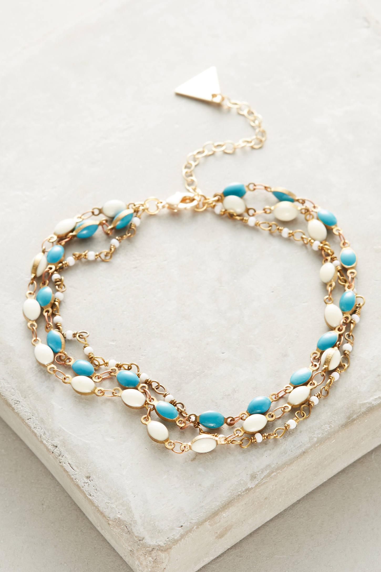 Turquoise Layered Ankle Bracelet