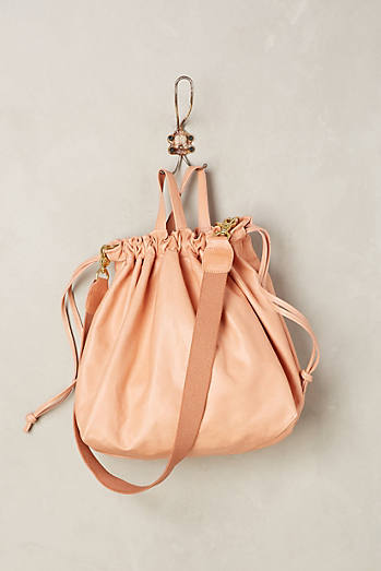 Clare V. Leather Supreme Drawstring Tote Bag