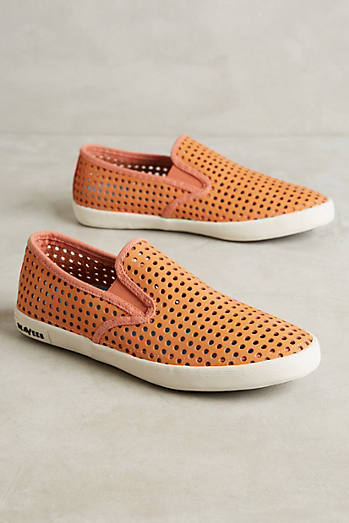 SeaVees Perforated Suede Sneakers