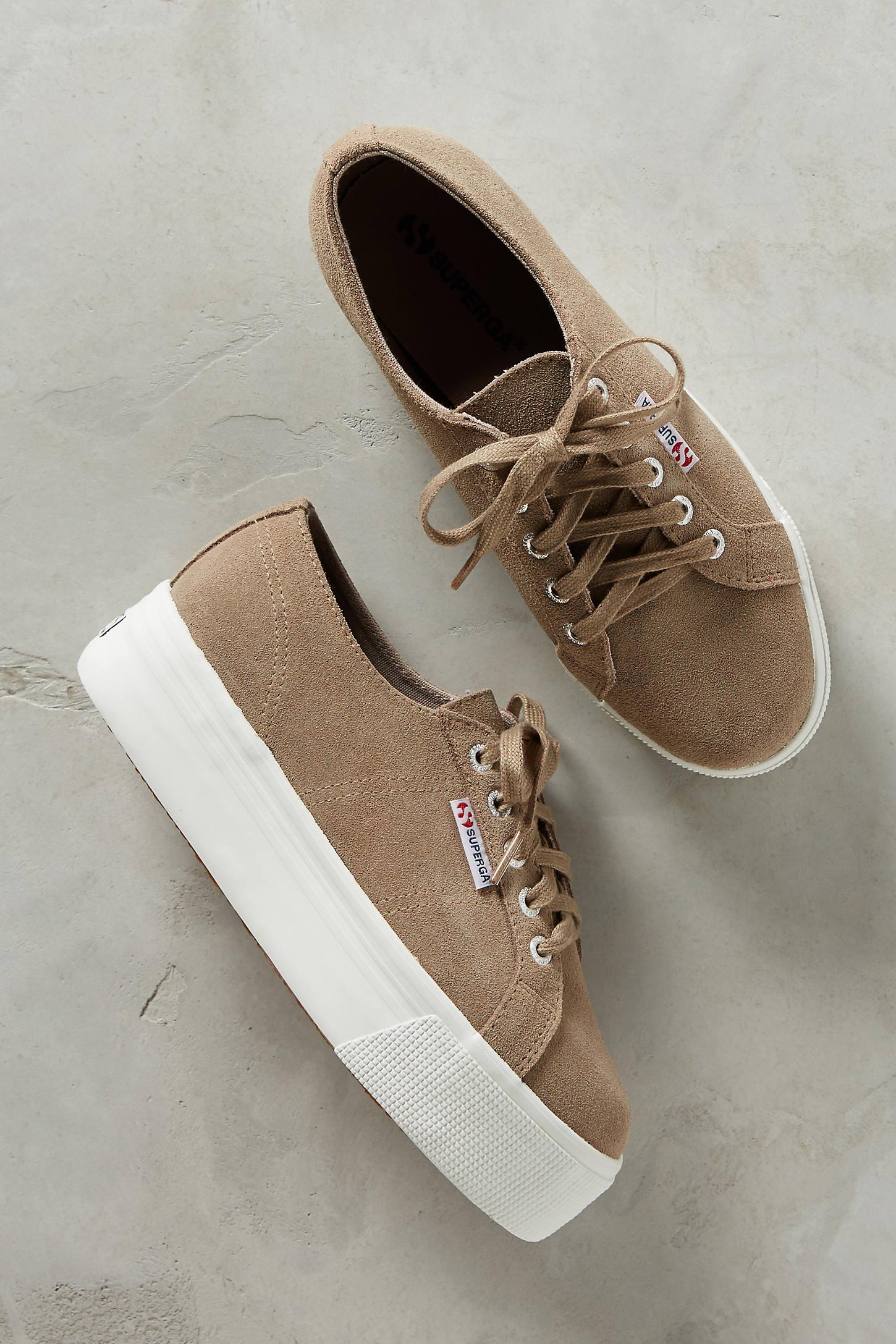 Superga Suede Platform Sneakers