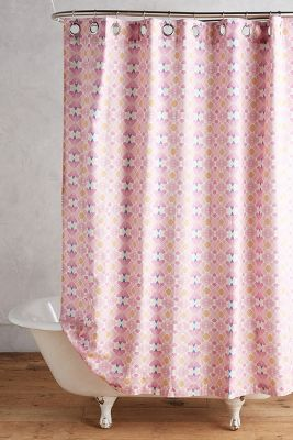 gold and pink shower curtain.  Shop Unique Boho Shower Curtains Anthropologie