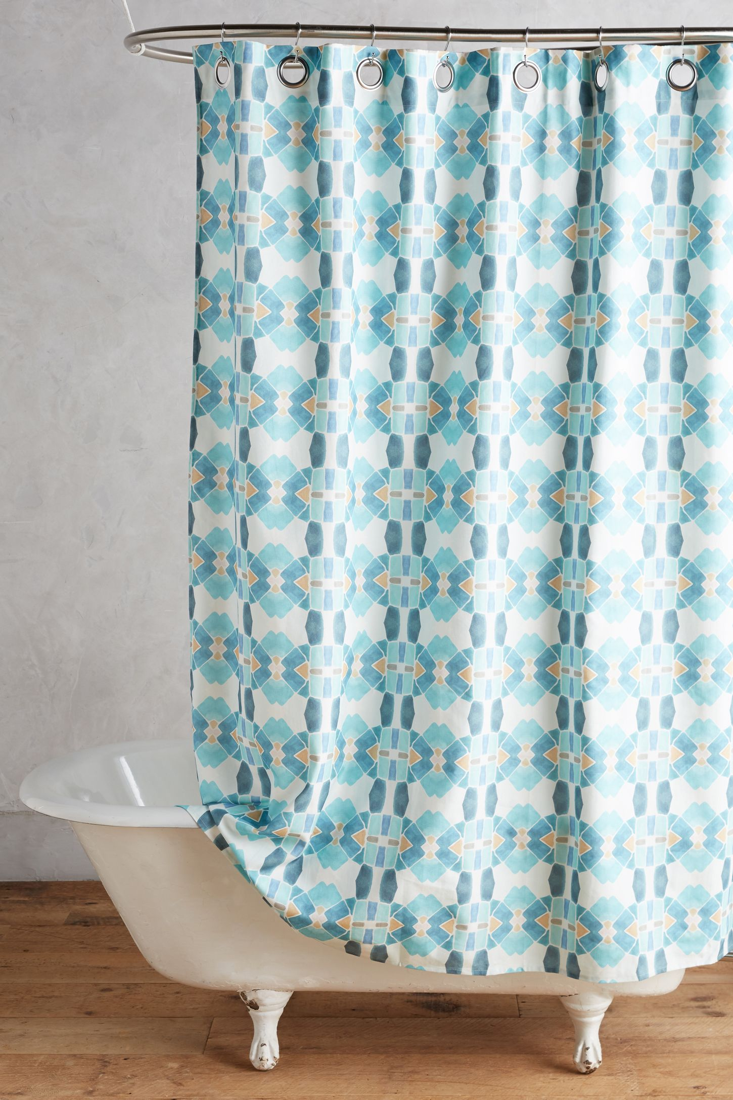 Wonderful Blue Shower Curtains Images