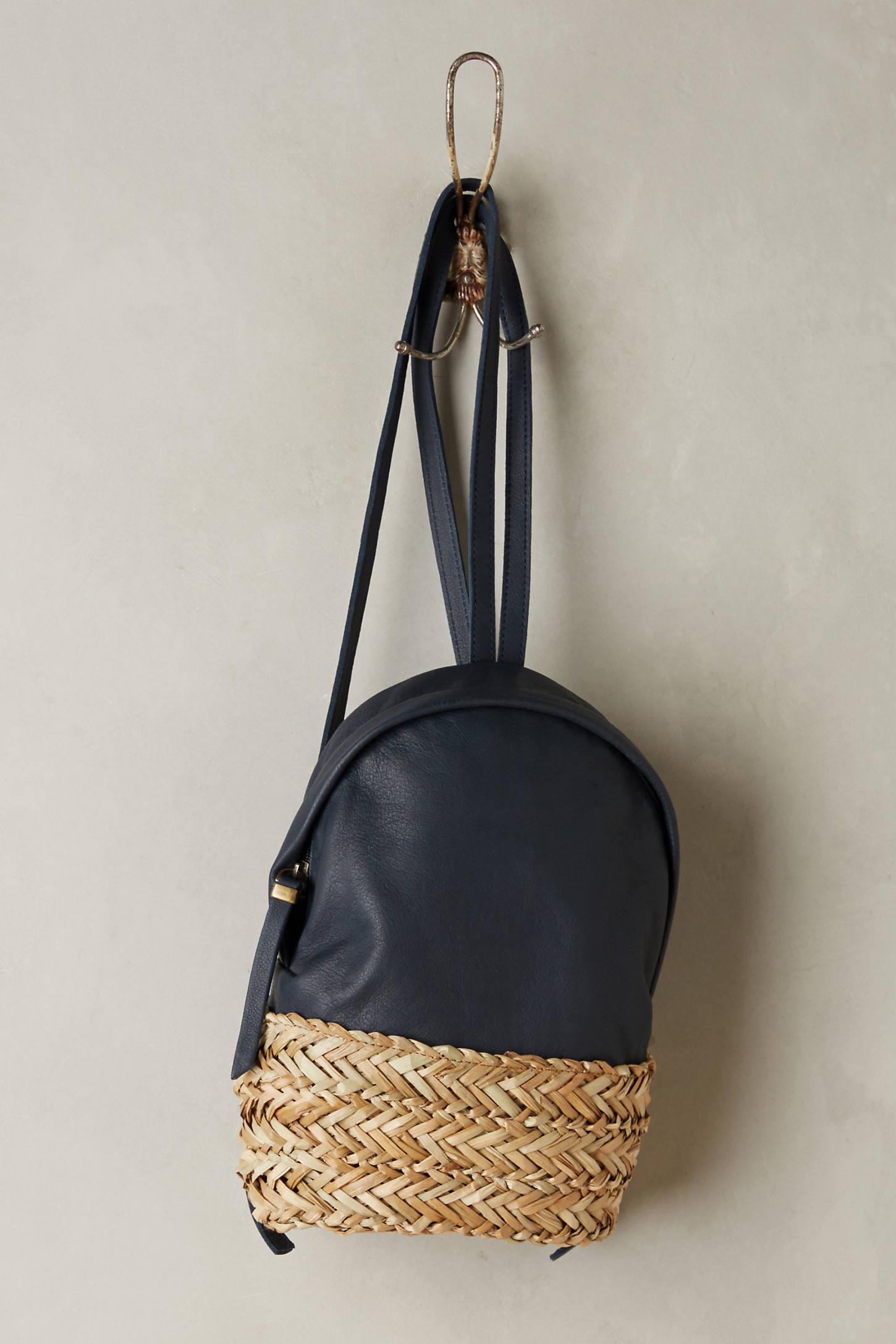 Aviva Raffia Backpack