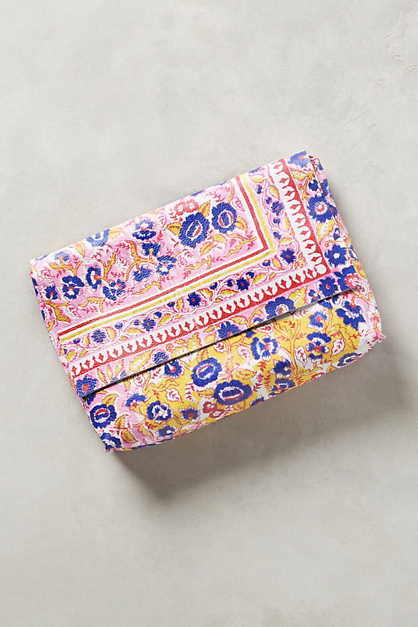 Suzanna Paisley Clutch - Pink