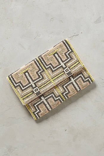 Grecian Key Clutch