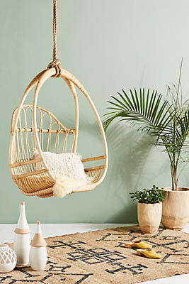Slide View: 1: Woven Hanging Chair