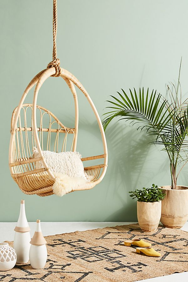 Marthe Woven Hanging Chair Anthropologie