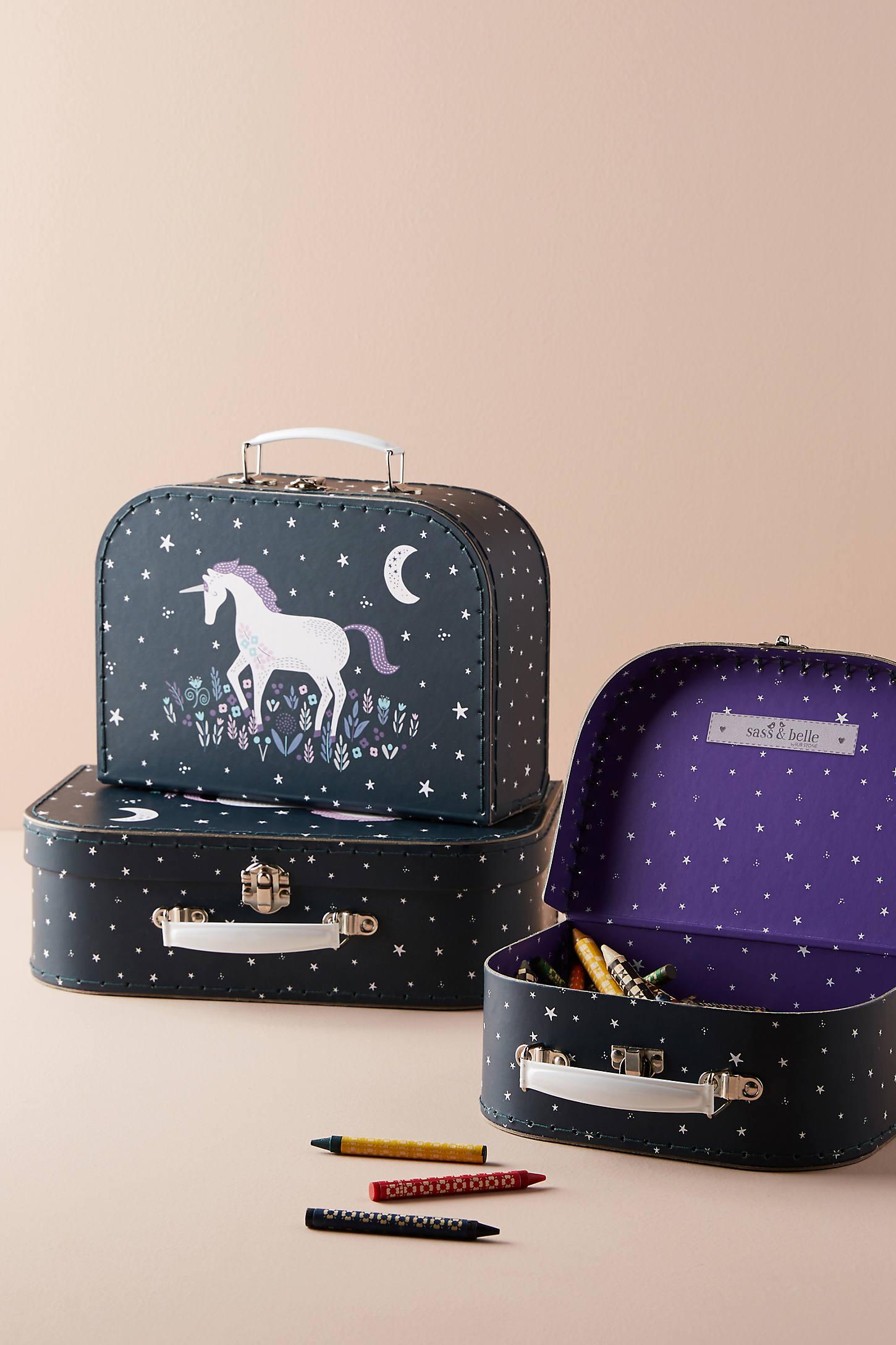Unicorn Suitcase Storage Set