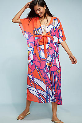 Slide View: 1: Allihop Square Caftan Cover-Up