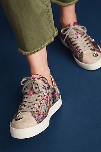 D.A.T.E. Butterfly Hill Embellished Sneakers