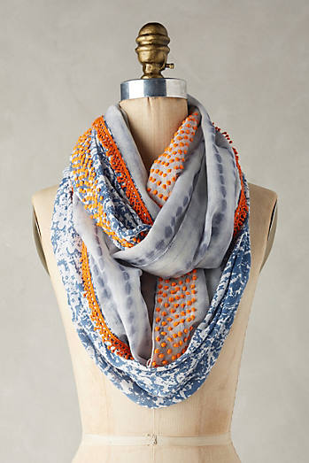 Knotted Paisley Infinity Scarf