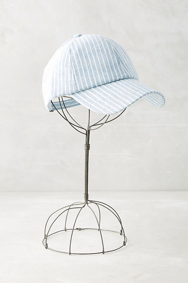 Striped Baseball Cap - Blue