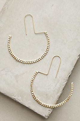Anthropologie Half Moon Hoop Earrings vYj9A5kgmi