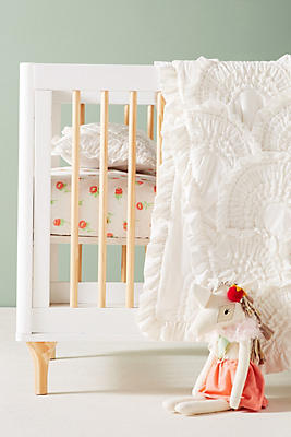 Slide View: 2: Faye Floral Crib Sheet