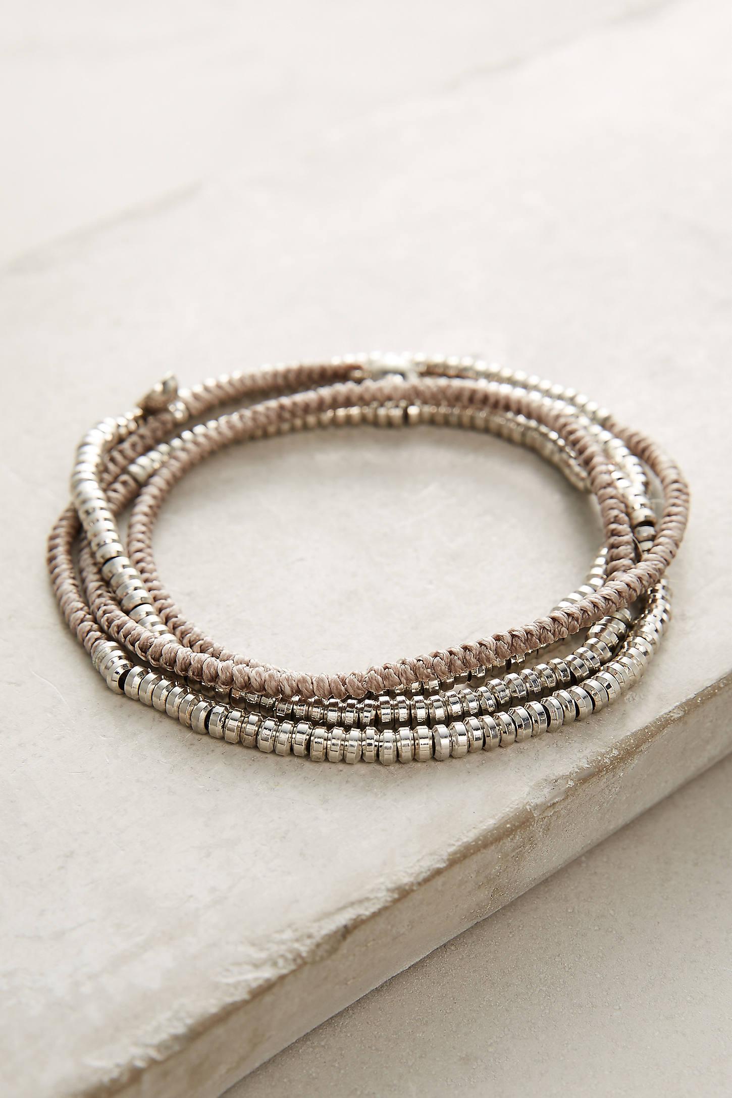 Mint Twisted Wrap Bracelet