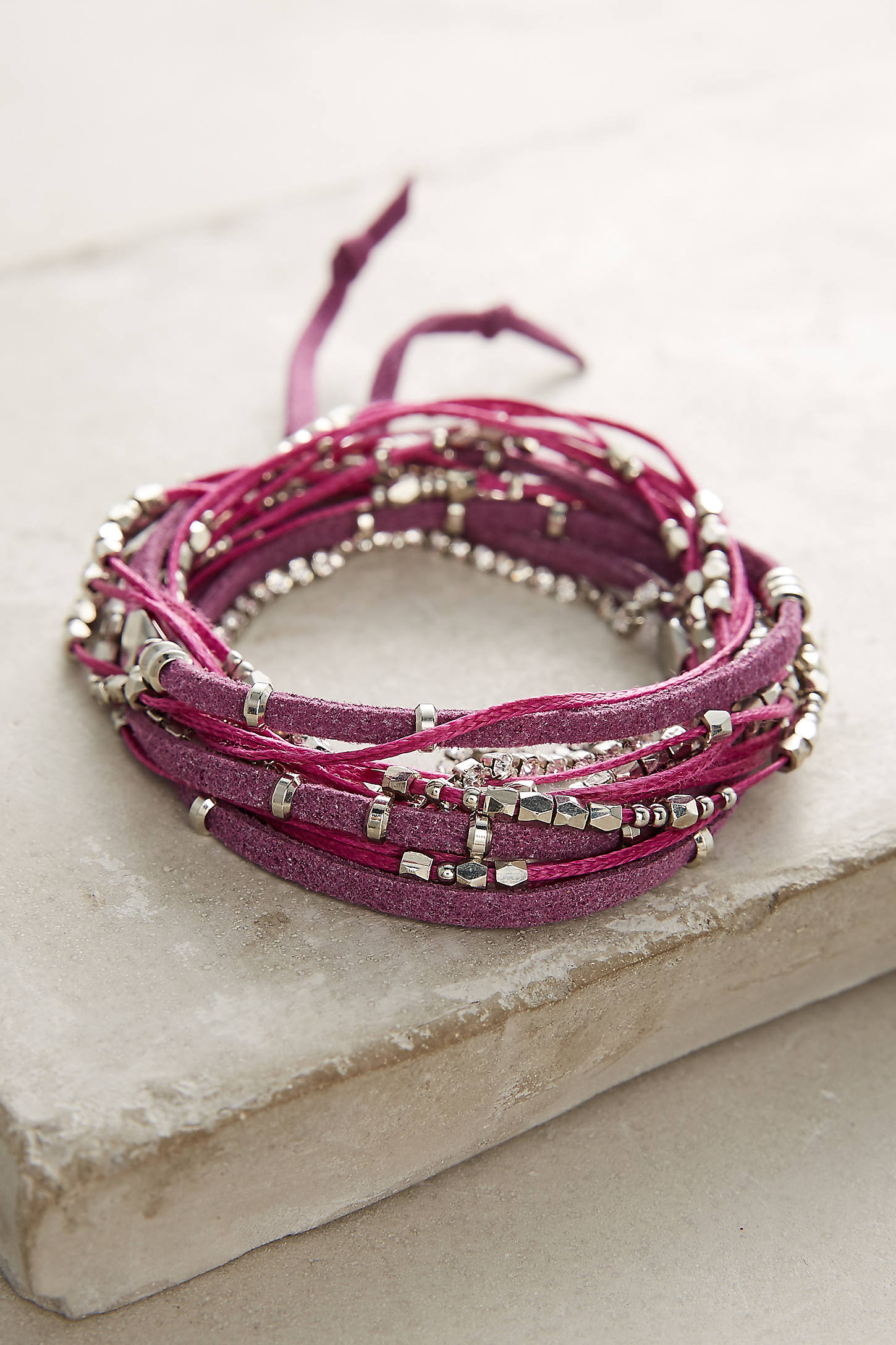 Rose Twisted Wrap Bracelet