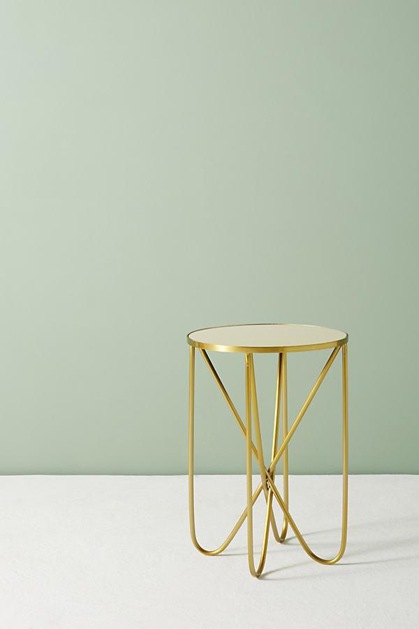 Derrington Slim Side Table - Dark Yellow