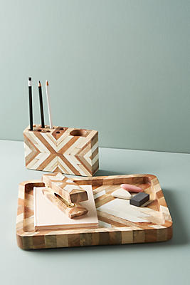 Slide View: 1: Marquetry Desk Collection