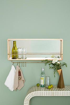 Slide View: 1: Bushwick Mirrored Shelf
