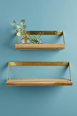 Slide View: 1: Beveled Wood Shelf