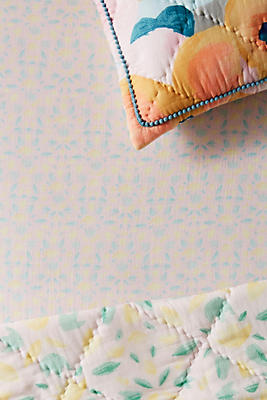 Slide View: 1: Abstract Florals Crib Sheet