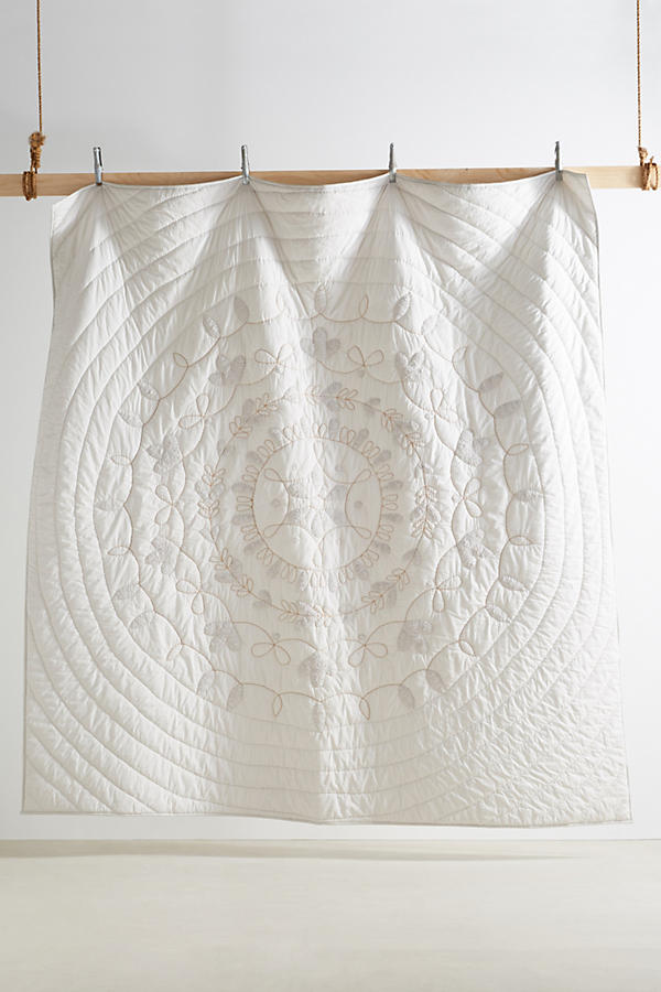 Slide View: 3: Embroidered Alia Quilt