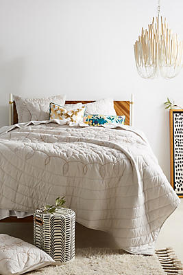 Slide View: 1: Embroidered Alia Quilt