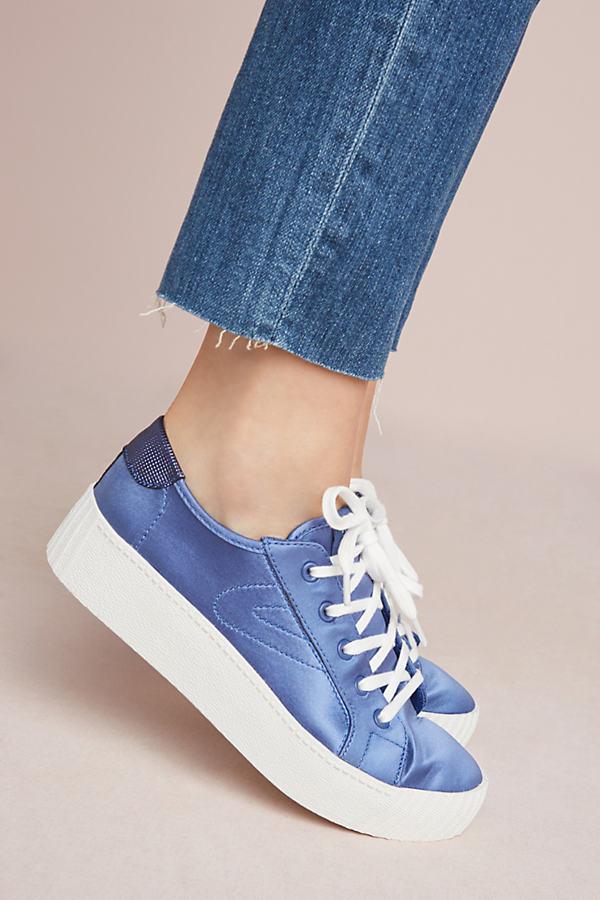 Tretorn Blaire Satin Sneakers - Blue, Size Eu 37