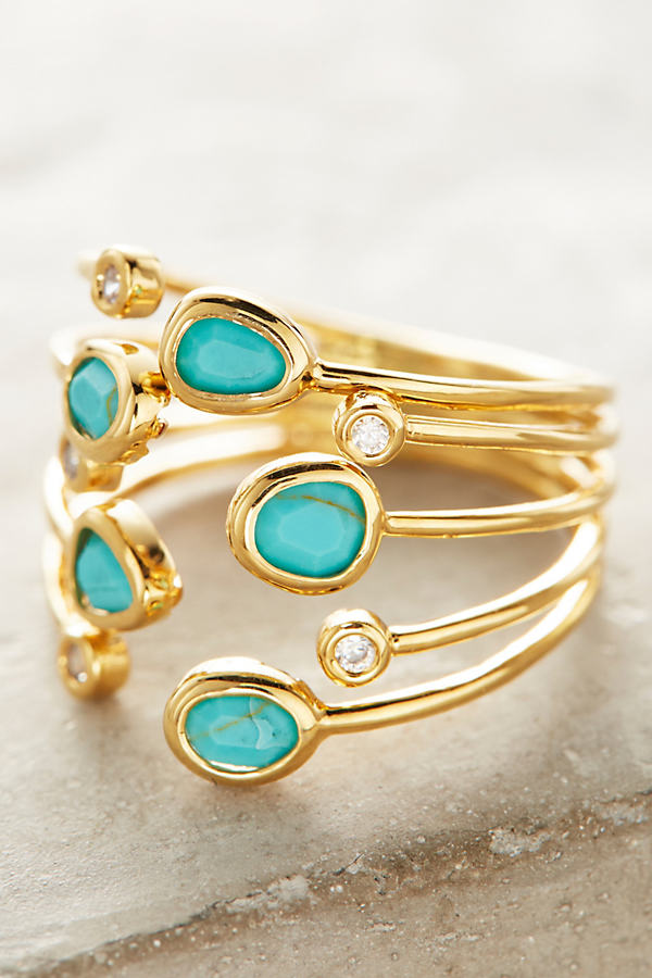 Lilou Ring - Turquoise, Size 7
