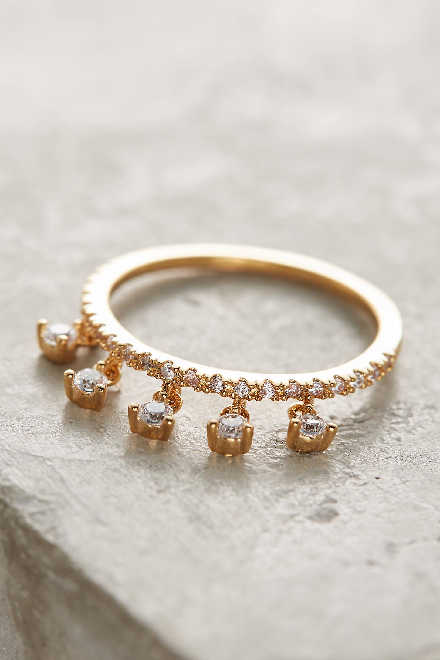 Crystal Dangle Ring