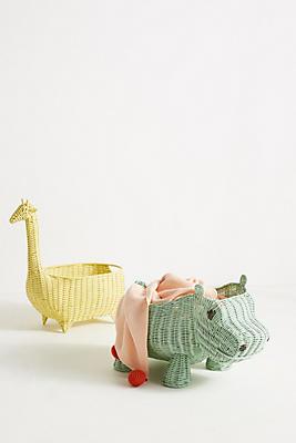 Slide View: 3: Hippo Wicker Basket