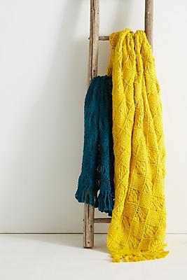 Slide View: 3: Macrame Throw Blanket