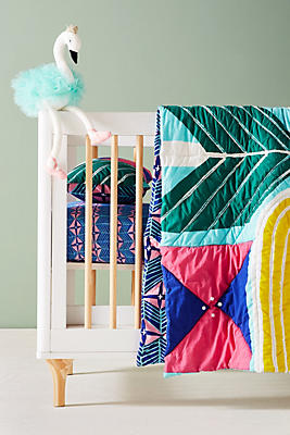 Slide View: 1: Mirrored Geo Toddler Quilt & Playmat
