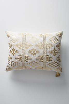 Slide View: 1: Gilded Jada Pillow